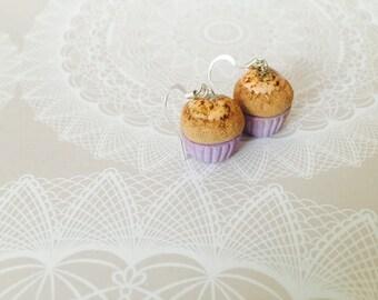 Cupcake Polymer Clay Dangle Earrings