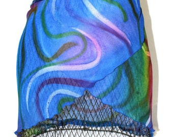 SALE!!! Wrap ballet skirt adult medium large georgette sheer blue green red  pink purple white yellow