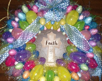 Faith Easter wreath