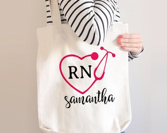 Nurse Tote Bag, RN Gift, Nurse Gift, Nursing School Gift, Nursing School Graduation Gift, LPN Gift, Nurse Bag, Gift For Nurse, Graduation