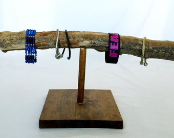 BRACELET BAR: natural wood bracelet holder, jewelry holder, jewelry hanger, jewelry storage
