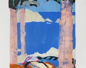 "Gabriel Godard-  ""Symphonie en Bleu IV"" - Handsigned Lithograph"