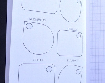 Weekly Shapes (WO2P) Traveler's Notebook Insert - Choose your Size
