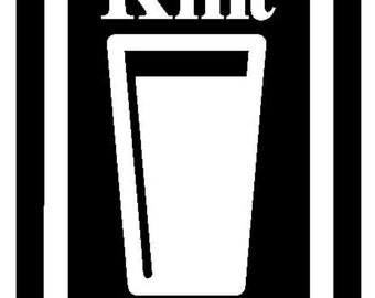 Knitting Decal Knit Pint Beer Tink