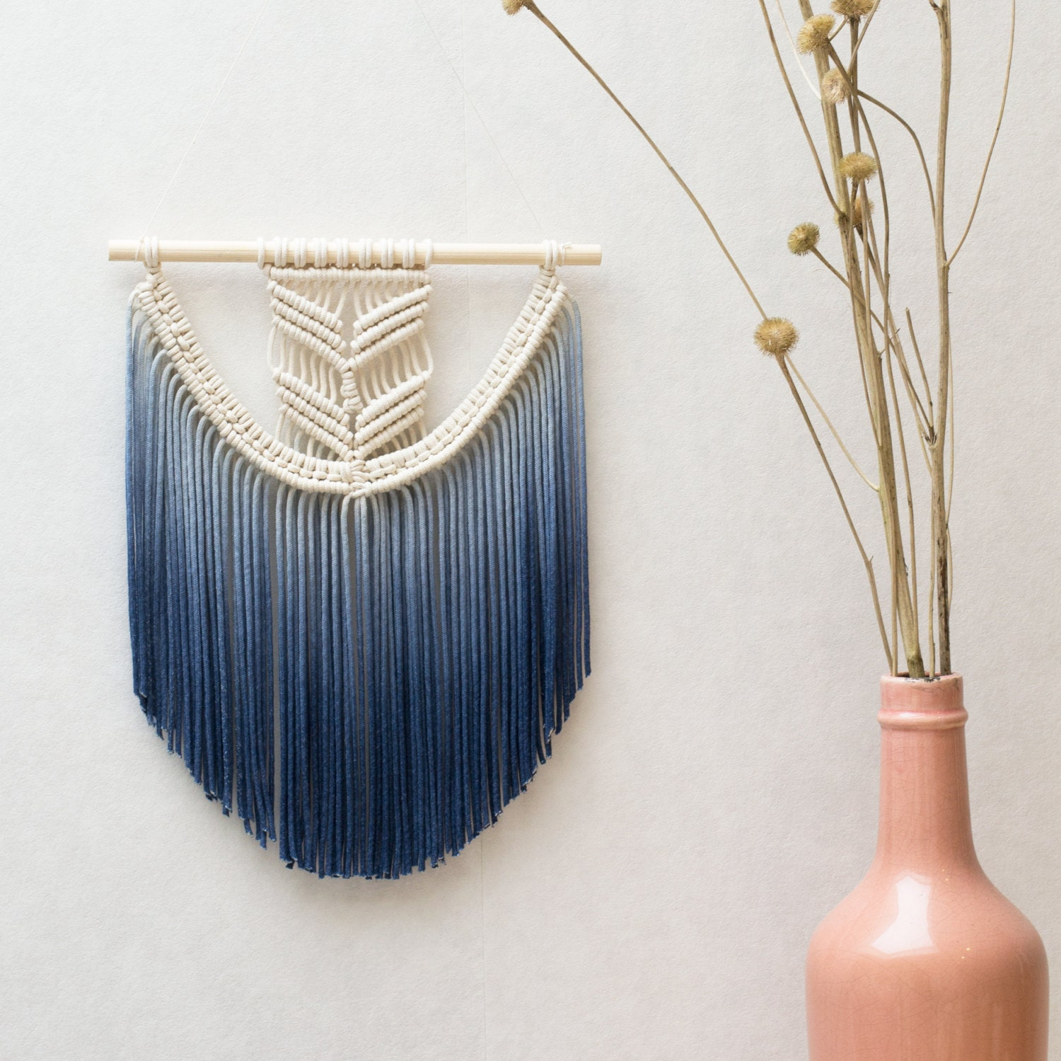 Wall Hangings Etsy macrame wall hanging / modern macrame / dip dye / ombre / wall