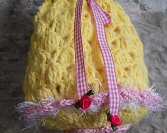 Dirndl handbag in yellow