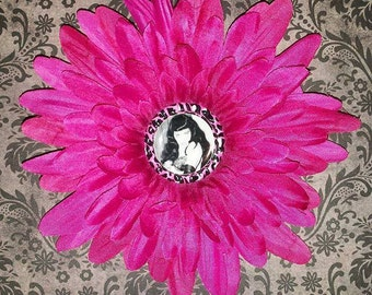 Flower Betty Page Pin Up Hairclip
