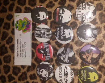 Siouxsie and Banshee button set 12
