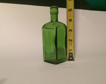 "Vintage Green Wheaton, NJ Bottle (5 1/2"" X 1 7/8"") - I will NOT be relisting this item"