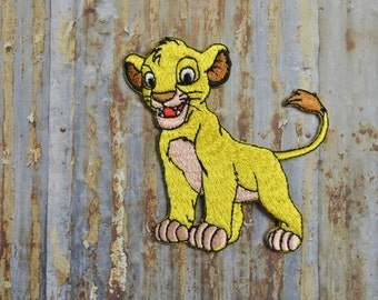 Lion Cub King Cartoon Kids Embroidered Iron On Or Sew On Patch