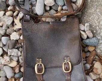 Truly Vintage Leather Saddlebag purse