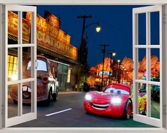 3D Window Cars Disney Wall Sticker