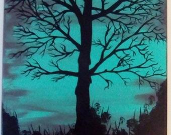 Turquoise sky tree