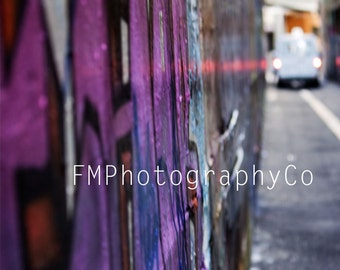 Colour Photograph, Street Art, Graffiti Art,Urban Photography, Union Lane, Melbourne Street Art, Photographic Print