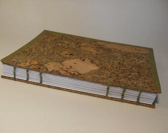Notebook made of cork