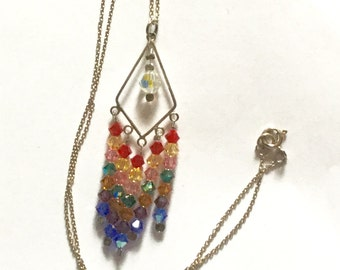 Sterling Silver and Swarovski Crystal Chandelier Pendant