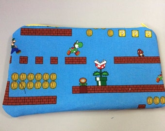 Super Mario Brothers Zip Pouch
