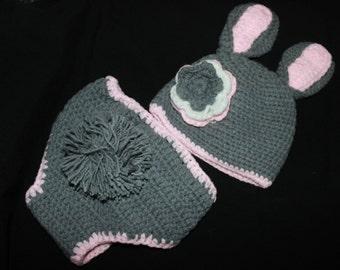 Bunny Rabbit Handmade Crochet Baby Girl Costume Clothes