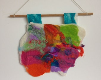 Mixed Media Textile Felt Wall hanging