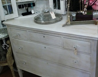 Beautiful Antique White Dresser