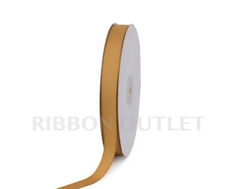 "5/8"" Antique Gold Grosgrain Ribbon 50 Yards Per Roll"