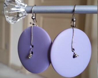 Custom cute purple ear buttons