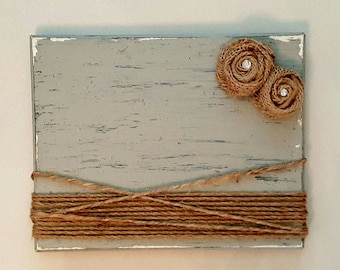 Rustic Picture Frame Wood Picture Frame Burlap Twine Picture Frame Distressed Wood Frame Wedding Gift