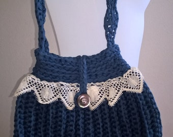 Crochet bag and lace