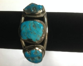Mexican Hecho Turquoise Bangle