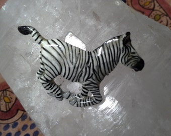 George G. Harris Hand-painted Zebra Pin