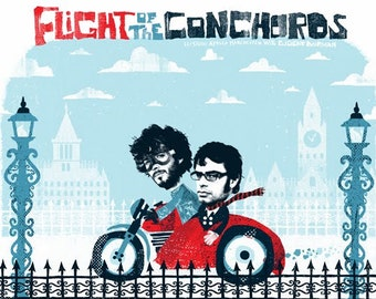 Silent Giants Poster - Flight of the Conchords