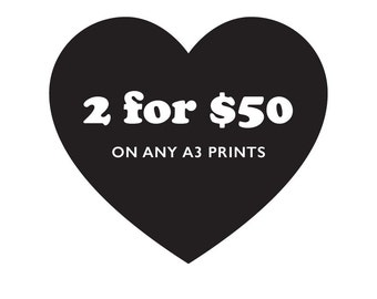 ANY 2 A3 PRINTS for 50 - Digital Prints, Art, Sale