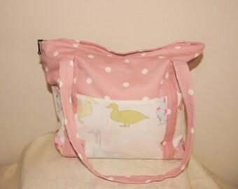 Handmade pink handbag