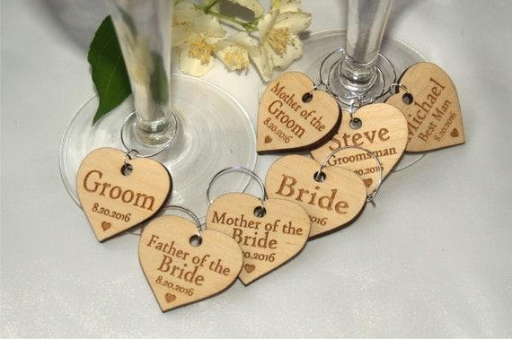 Personalised Wedding Wine Glass Charms : wine charms, Wine charms, Wine glass charms, Wedding charms, Custom ...