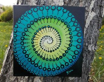 Dot Mandala Painting On Wood Purple And Pink Mandala
