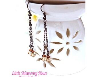 ER8 - Dazzling Swarovski Crystal Beads Dangle Earrings