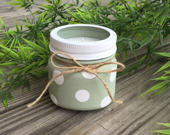Polka Dots Soy Candle- 100% Natural Soy Wax & Essential Oils