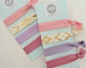 hair ties | set of four | bracelets | gift for her | party favor