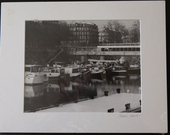 Matted Print - Paris Harbor
