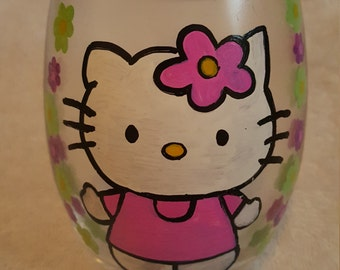 Hand Painted Hello Kitty Candle Holder Votive