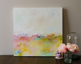 minimalist art,soft colors,abstract landscape,landscape painting,seascape,Acrylic painting,original abstract,painting on canvas