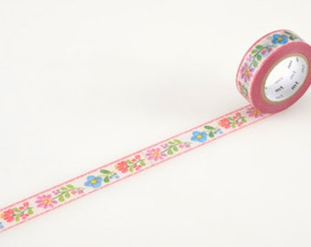 Embroidery Flower Washi Tape by MT