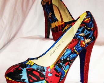 Superman inspired heels * * * sizes 3-8