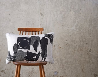 Collagraph- Collage- CUSHION