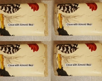 Clove with Almond Meal Homemade Soap - 4 bar soap count per order