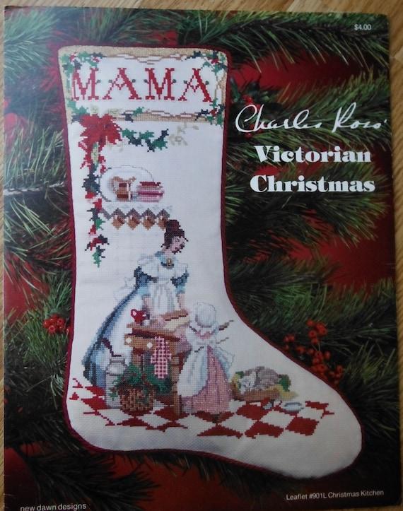 Vintage personalized keepsake christmas stocking pattern for Charles craft christmas stockings