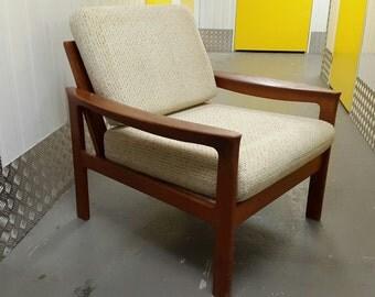 Vintage DANISH Armchair Design Great Condition TEAK WOOD Loft Modern