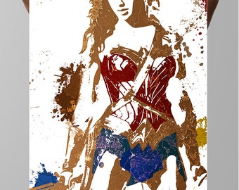 Wonder Woman Comic Poster,  Diana Prince, Justice League DC Comics