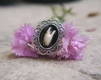 Gothic ring with crab claw