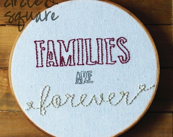 families are forever - hoop